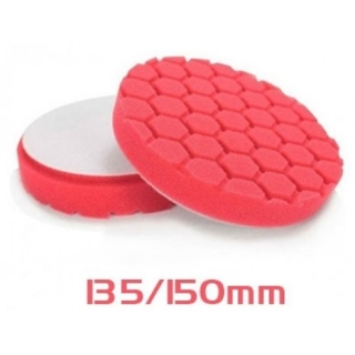 Angelwax Hexcentric Foam Pad Red 135/150 mm Ultra Light Finish - ultra měkký finišovací kotouč