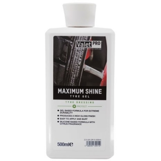 ValetPro Maximum Shine Tyre Gel - ošetření pneu 500ml
