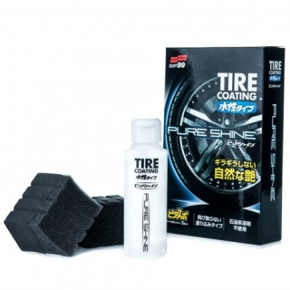 "Soft99 Water-Based Tire Coating ""Pure Shine"" - ochrana pneumatik s leskem 100ml"