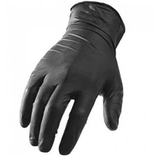 Carbon Collective Black Textured Nitrile Glove M - chemický odolná rukavice vel. M
